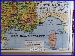 Carte scolaire ancienne France Départements Girard et Barrère no Vidal Lablache