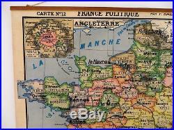 Carte scolaire ancienne France Politique départements Hatier no Vidal Lablache