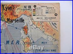 Carte scolaire ancienne Indochine Afrique du Nord Delagrave type Vidal Lablache