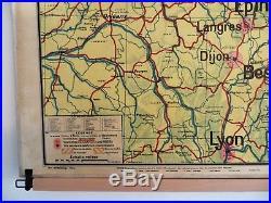 Carte scolaire ancienne Vidal Lablache 10 France Militaire Frontière Nord-Est