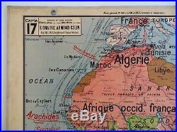 lettres vieux papiers carte scolaire ancienne vidal lablache 17 afrique politique. Black Bedroom Furniture Sets. Home Design Ideas