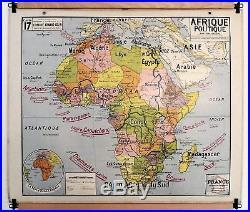 Carte scolaire ancienne Vidal Lablache 17 Afrique Politique