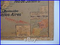 Carte scolaire ancienne Vidal Lablache 20 Amérique du Sud 1900/1910 Mézières