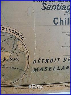 lettres vieux papiers carte scolaire ancienne vidal lablache 20 am rique du sud 1900 1910 m zi res. Black Bedroom Furniture Sets. Home Design Ideas