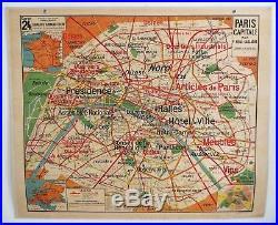 lettres vieux papiers carte scolaire ancienne vidal lablache 24 paris capitale et environs. Black Bedroom Furniture Sets. Home Design Ideas