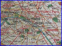 Carte scolaire ancienne Vidal Lablache 24 Paris Capitale et Environs