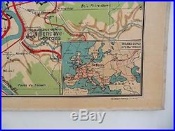 Lettres vieux papiers | Carte scolaire ancienne Vidal Lablache 24 Paris Capitale et Environs