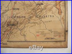 Carte scolaire ancienne Vidal Lablache 41 Département d'Oran Algérie vers 1914