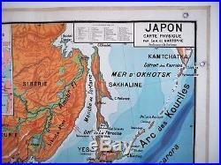 Carte scolaire ancienne Vidal Lablache 50 Japon