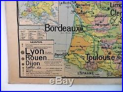 Carte scolaire ancienne Vidal Lablache 5 France Villes