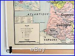 Carte scolaire ancienne Vidal Lablache 9 France Provinces en 1789