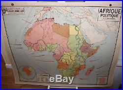 Carte scolaire ancienne Vidal Lablache AFRIQUE POLITIQUE / old french school map