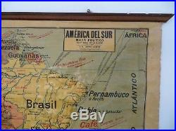 Carte scolaire ancienne Vidal Lablache América Del Sur vers 1914