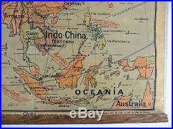 Carte scolaire ancienne Vidal Lablache Asia Politica (Asie) Mézières début 1900