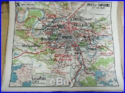 Carte scolaire ancienne Vidal Lablache N°24 PARIS