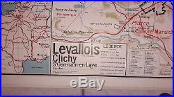 Carte scolaire ancienne Vidal Lablache N °24 et 24 BIS PARIS