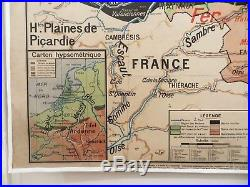 Carte scolaire ancienne Vidal Lablache n°25 Belgique Mézières 1912