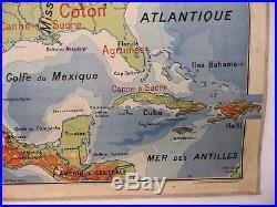 Carte scolaire ancienne Vidal Lablache n°51 Etats-unis Mexique