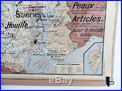 Carte scolaire ancienne Vidal Lablache n°8 France Agriculture et Industrie