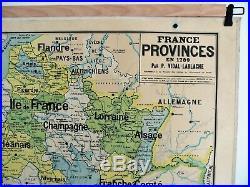 Carte scolaire ancienne Vidal Lablache n°9 France Provinces en 1789