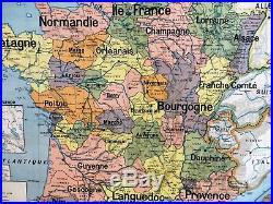 Carte scolaire ancienne Vidal Lablache n°9 France Provinces en 1798