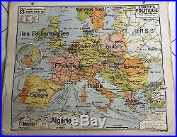 Carte scolaire vidal lablache Leurope Politique Map Ancienne