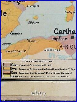 Carte scolaire vidal lablache Palestine /orient/hebreu/Hebrewithold School map