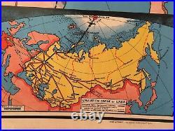 Carte scolaire vintage de l'URSS
