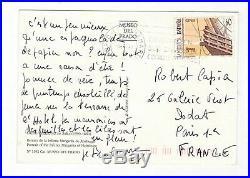 Catherine Deneuve / Lettre Autographe (1995) / À Robert Capia / Madrid