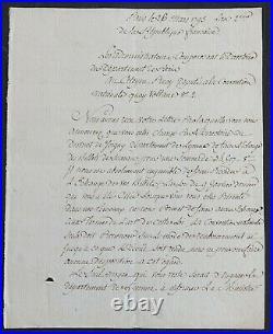 Célèbre Cordelier Antoine François MOMORO autographe 1793 (GUILLOTINE)