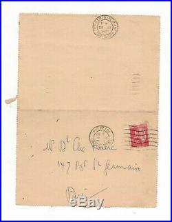 Céline / Lettre Autographe (mars 1933) / Rue Lepic / Revue Europe / Voyage