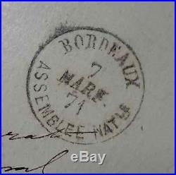 Cérès N°45b 4 Marges Lettre Cover Cad Bordeaux Assemblée Nationale Indice 35 Sup