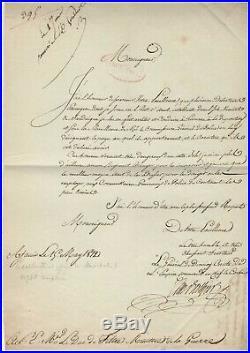 César Berthier / Lettre Signée (1812) / Au Duc De Feltre / Corse / Déserteurs /