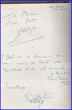 Chanson rock texte autographe livre d'or JOHNNY HALLYDAY & NATHALIE BAYE 1987