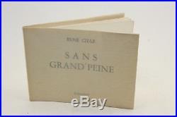 Char + Ill. De Charbonnier Sans Grandpeine 1973 Eo 1/49 Sur Rives Signés