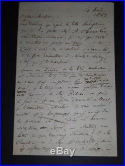 Charles Baudelaire Importante Lettre Autographe Signee De 2 Pages In-8 Dec 1862