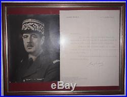 Charles DE GAULLE Lettre tapuscrite autographe signée 1948