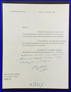 Charles DE GAULLE lettre autographe signée 1968 Autograph signed letter