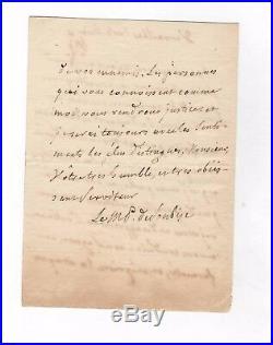 Charles De Rohan Soubise / Lettre Autographe / Versailles / Pompadour