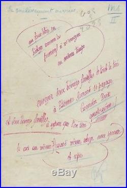 Charles Péguy 7 manuscrits autographes signés