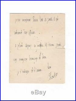 Charles Péguy / Lettre Autographe (1914) / Une De Ses Dernières Lettres