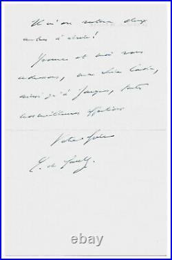 Charles de GAULLE / Lettre autographe signée / Edith Piaf / Ses Mémoires / 1970
