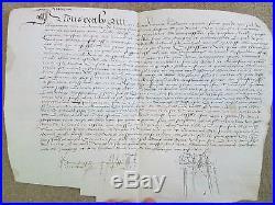 Charte Parchemin 1526 Foy Et Hommage Chevallier Ecuyer De Juvigny (normandie)