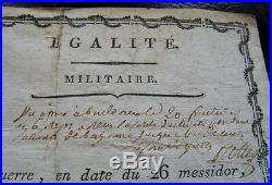 Chasseurs Basques Brevet De Chirurgien & Congé Directoire 1798