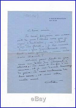 Colette / Deux Lettres Autographes Signées (1945-1946) / L'étoile Vesper