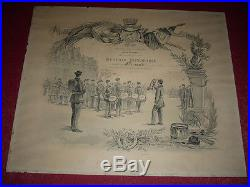 Coll. J. DOMARD SPORTS TRES TRES RARE DIPLOME / BATAILLON SCOLAIRE PARIS 1886