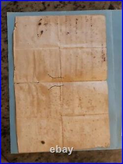 Collection Corse Ancien Document Lettre Signee Autographe Pasquale Paoli