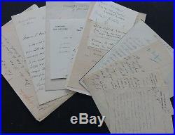Collection complète d'Autographes PRESIDENTS des 3° & 4° REPUBLIQUE
