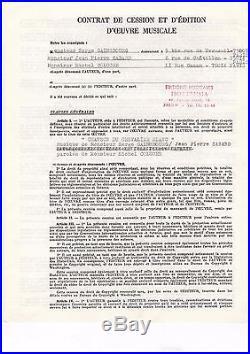 Coluche & Serge Gainsbourg / Contrat Signé (1977)/ La Chanson Du Chevalier Blanc