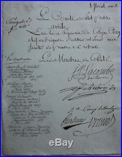 Comite De Salut Public Cambaceres, Lacombe, Breard, Creuze Aubry 1800